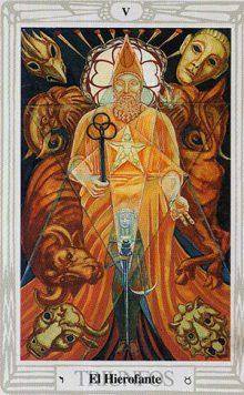 El Hierofante - Tarot Thoth