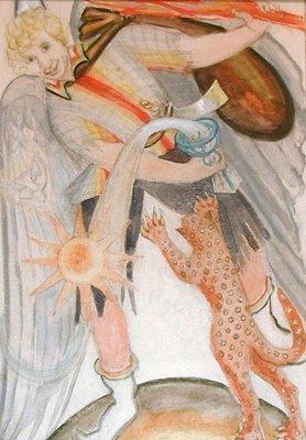 Bocetos del Tarot Thoth por Frieda Harris